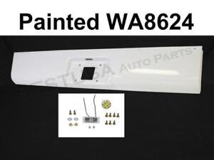 Painted White Rear Steel Roll Pan For 1999-2007 Silverado Classic Fleetside