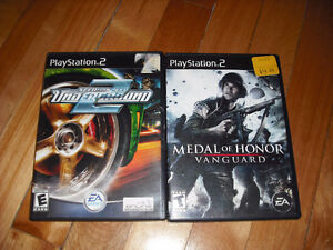 Ensemble Jeux Playstation 2 Need for Speed Medal of Honor