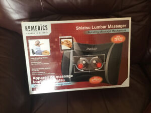 Electric lumbar massager that includes heat .