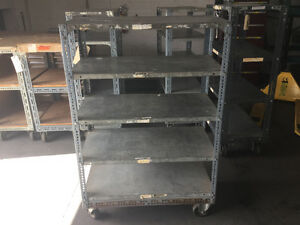 Steel shelving custom carts with strong casters