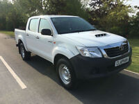 2015 65 TOYOTA HILUX 2.5D 4WD EURO 5 145 BHP 1 COMPANY OWNER ONLY 17000 MILES