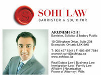 ** REAL ESTATE | IMMIGRATION | BUSINESS LAWYER > 647-646-7644 **