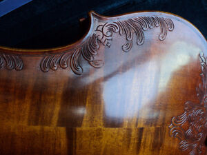VIOLIN 4/4 FULL SIZE CARVED INLAY SOLID SPRUCE TOP ,MAPLE SIDES London Ontario image 7