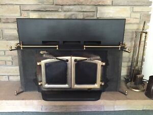 Elmira stove works insert with electric fan