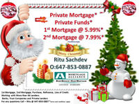 Best Mortgage Deal * Private Funds 1st @ 5.99% and 2nd @ 6.99%*