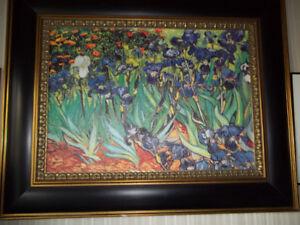 Very Pretty Iris Print On Canvas
