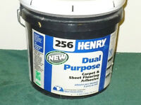 TWO  LARGE 5 GAL TYPE BUCKETS OF FLOORING AND CARPET CEMENT