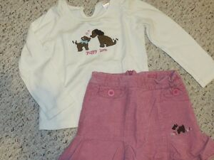 Gymboree outfit - shirt and skirt - Size 5