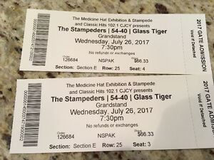 Wednesday stampede tickets