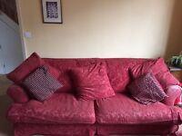 2 red feather sofas (originally John Lewis)
