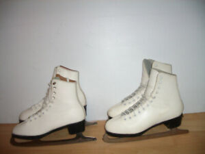 "Patins a glace Skates ""Daoust "" all  leather  size  5  US lady"
