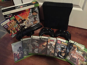 X Box 360 and 9 games