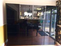 Black Gloss Storage/Wall units