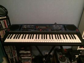 Yamaha Syth DJX Keyboard, Stand and Amplifier