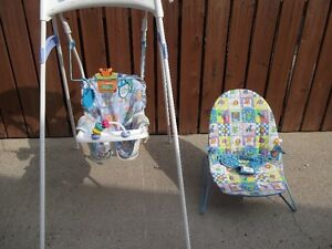 2 ITEMS = 1 SWING (GRACO) & 1 BOUNCER (KIDSII)
