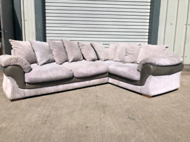 Large grey fabric Corner sofa couch suite 🚚🚚