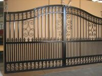 Steel gates fabricated to suit any size and style