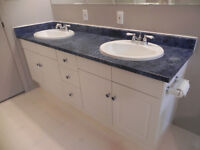"""72"""" Double Sink Vanity and Faucets"""