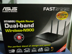 New ASUS RT-N66U Dual-Band Wireless-N900 Gigabit Router