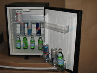 "small silent ""mini-bar"" fridge."