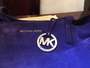 New Michael Kors Suede Handbag
