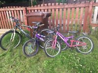 FREE kids bikes - seen better days!