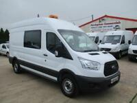 17 reg FORD TRANSIT L3 H3 170PS EURO 6 RWD CREW MESSING UNIT, WELFARE TOILET VAN