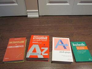 bescherelle allemand, dictionnaire ang-fr comptabilité, 2 dicos