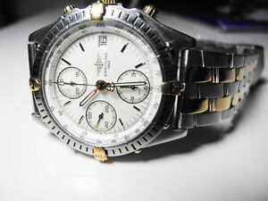 Breitling Chronomat Steel/Gold w/white dial - 100% Authentic West Island Greater Montréal image 2