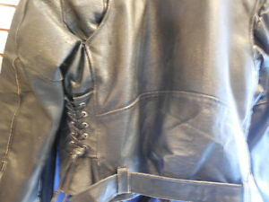Old school black leather jacket @recycledgear.ca Kawartha Lakes Peterborough Area image 8