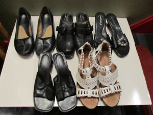 Assorted womens shoes and sandals.