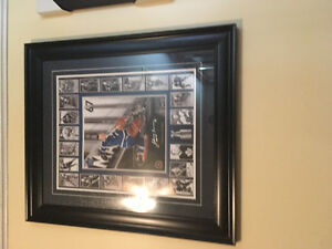 Autographed hockey pictures  certified and authenticated