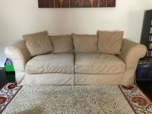 Comfy beige couch