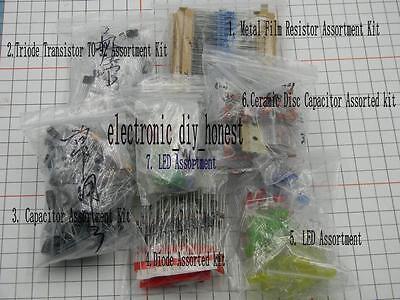 Electronic Gift Pack Resistor Capacitor Transistor Diode Led Assortment Kit