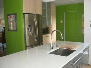 Rénovation Daniel Paradis.  Céramique, cuisine, salle de bain.