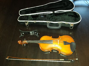 Euro Basic Antiqued 1/2 Size Violin with Bow and Case