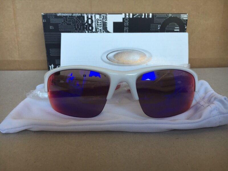 41856d8d97e Oakley Sunglasses Bottle Rocket Polished White Red Iridium Polarized