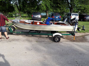 14' Aluminum Fishing Boat and Trailer