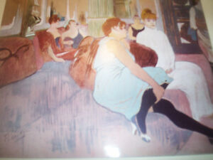 lot de 10 Impression couleur TOULOUSE LAUTREC 1952 New York