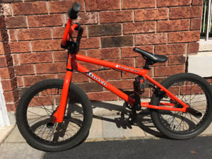 "This sweet HUTCH Cougar BMX 18"" in Orange has your name on it!"