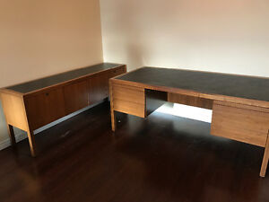 Solid Wood Desk and matching Credenza Cambridge Kitchener Area image 4