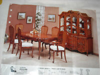 Princeville hutch , buffet , table and 6 chairs