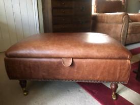 Laura ashley leather footstool