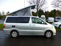 Toyota Alphard 4 Berth Elevating Roof Campervan