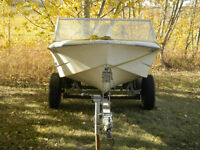 13 FT boat with recently professionally rebuilt motor