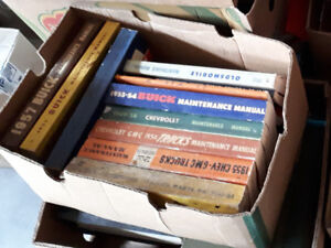 Factory Shop manuals parts mags Buick Olds Ford 30's to 90's