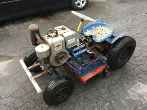Antique Rat Rod Tractor Mower RAT ROD Tracteur  Tondeuse
