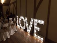 4 foot giant light up LOVE letters