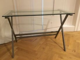 Glass Desk For Sale (hardly used)