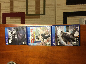 PS4 and a couple games Hardly used for sale